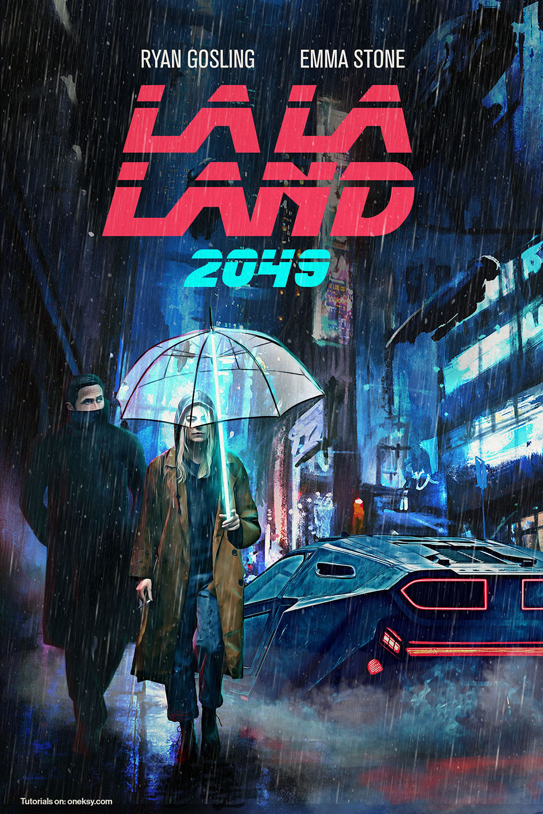 Video creating the blade runner x la la land mashup poster oneksy drag the slidey thing to see the source image before and after photoshop baditri Gallery
